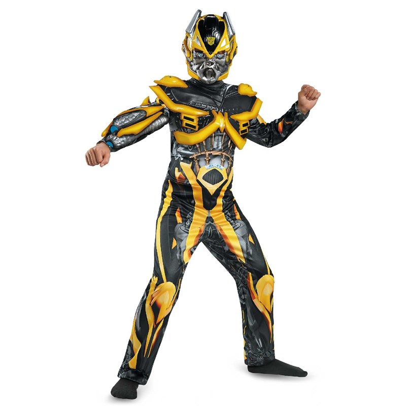 Transformers Age of Extinction   Deluxe Bumblebee Kids Costume for the 2015 Costume season.