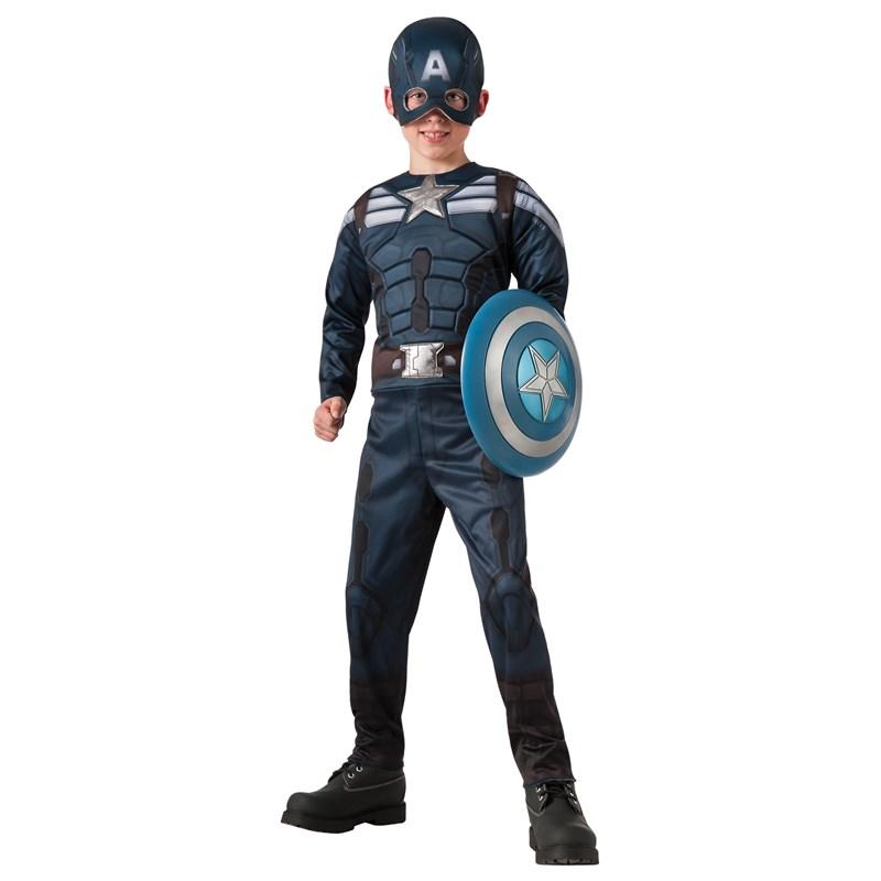Captain America Winter Soldier   2 1 Reversible Stealth and  Retro Captain America Child Costume for the 2015 Costume season.