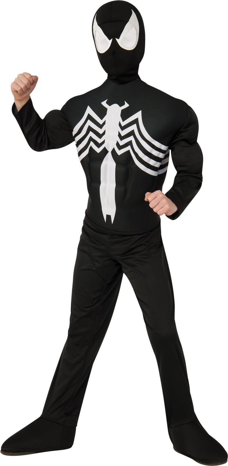 Ultimate Black Spider-Man Muscle Chest Kids Costume