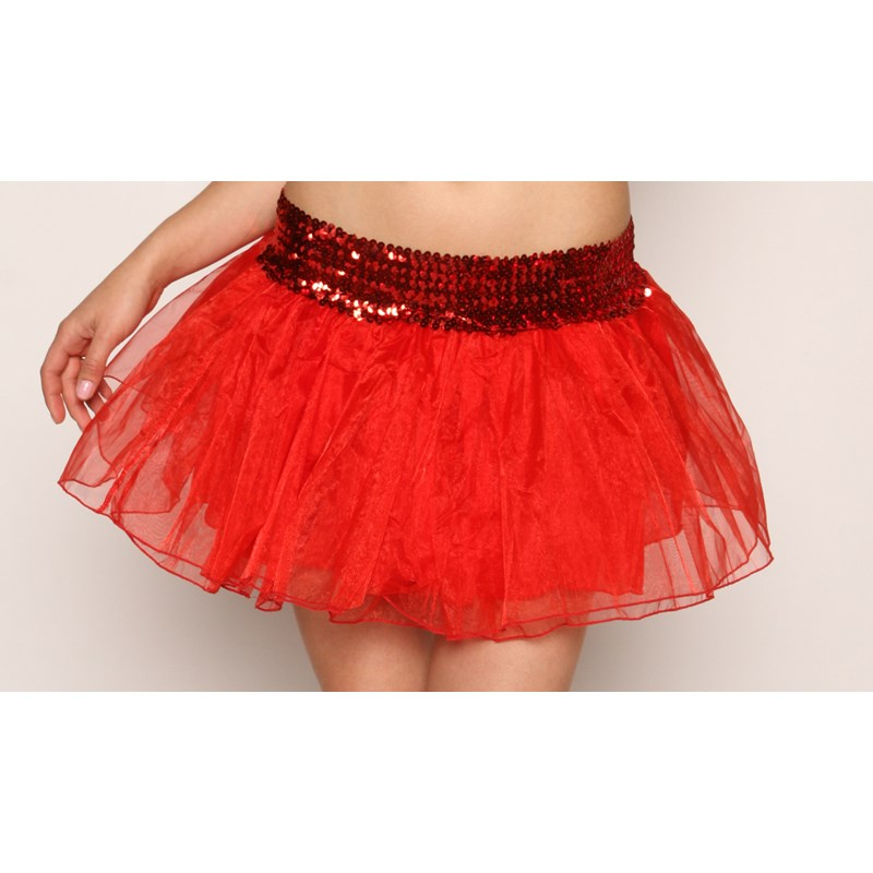 Sequins Petticoat Skirt   Red for the 2015 Costume season.