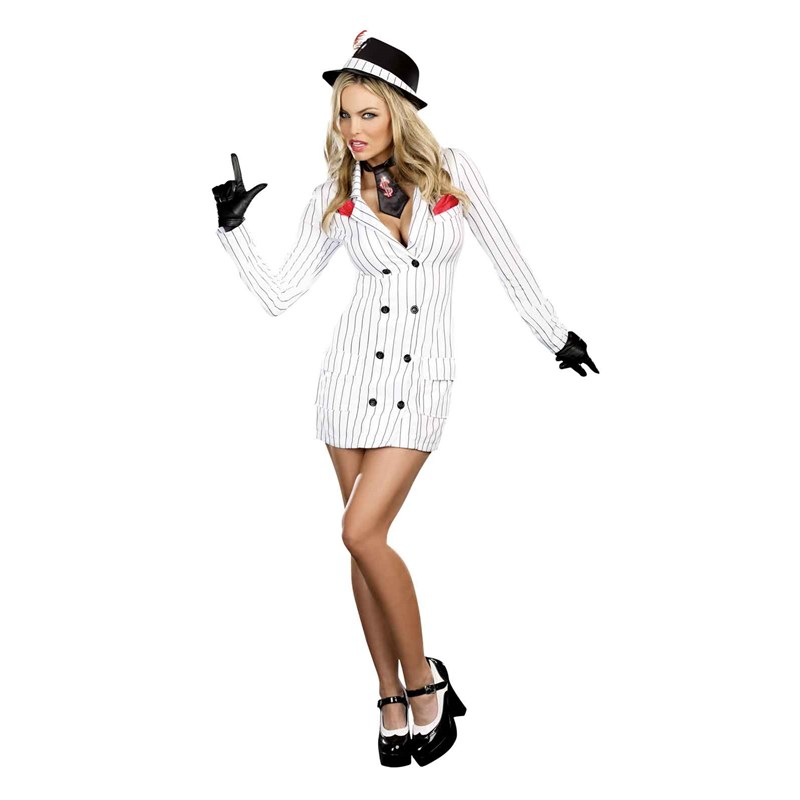 Smooth Criminal Adult Gangster Gal Costume for the 2015 Costume season.