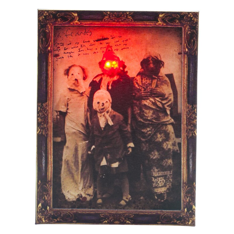 Scary Vintage Light Up Photo Portrait for the 2015 Costume season.