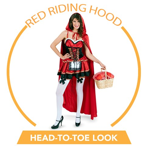 Little Red Riding Hood Head-to-Toe Look