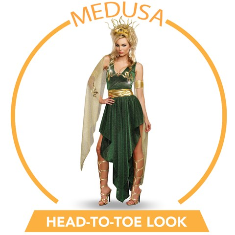 Sultry Medusa Head-to-Toe Look