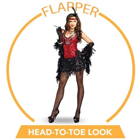 What's Shakin Flapper Head-to-Toe Look