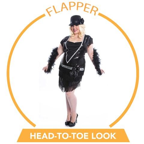 Elegant Flapper Plus Head-to-Toe Look