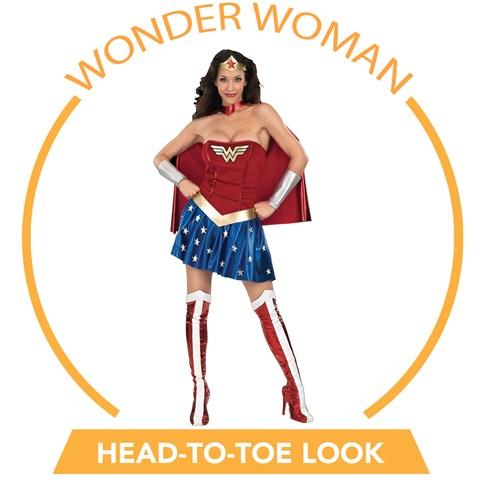 Wonder Woman Head-to-Toe Look