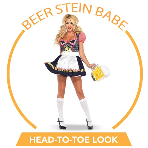 Beer Stein Babe Head-to-Toe Look
