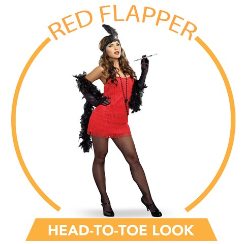 Red Flapper Head-to-Toe Look