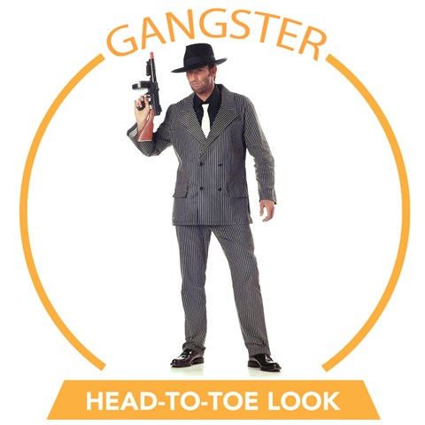 20's Gangster Head-to-Toe Look