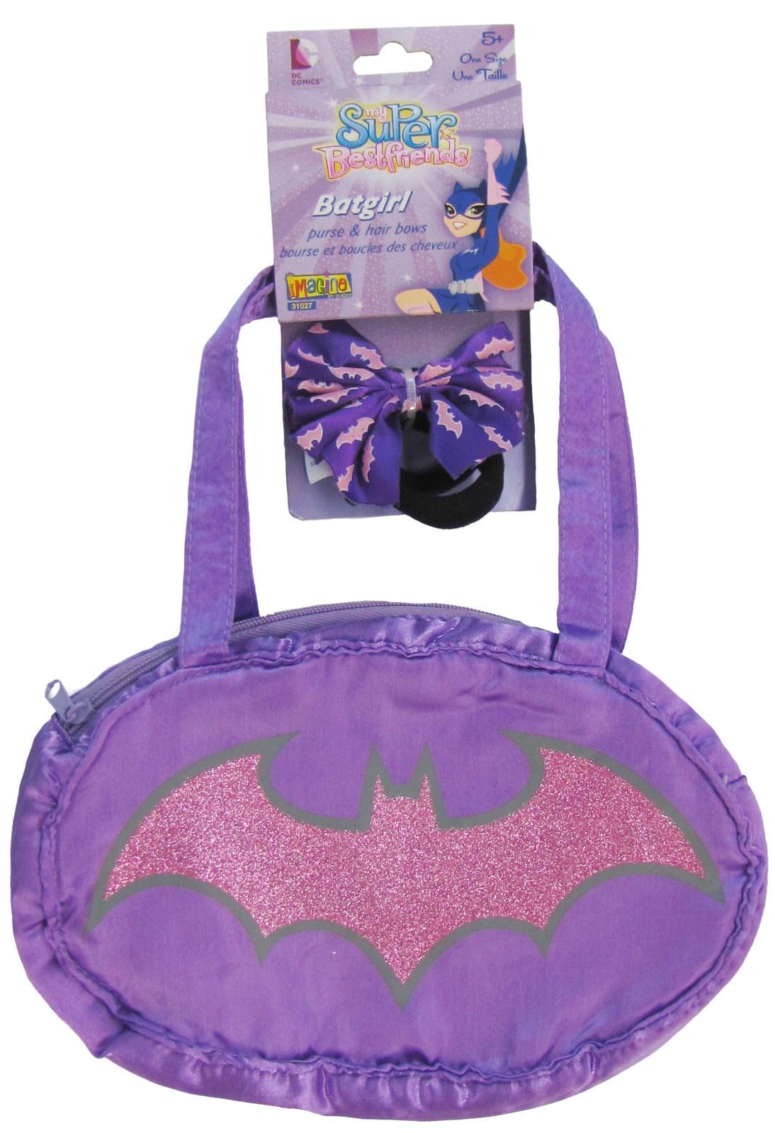Image of Batgirl Purse Hair Bows Set Child