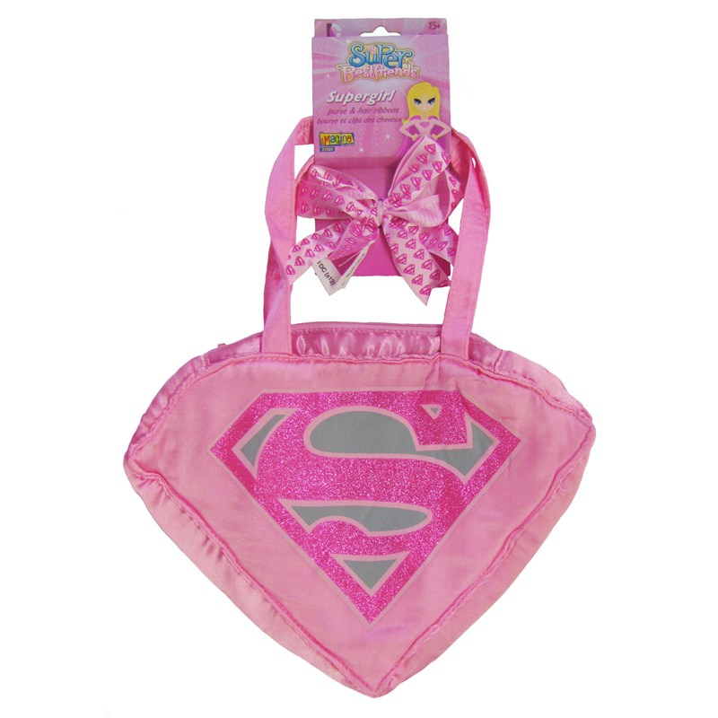 Supergirl   Purse Hair Ribbons Set Child for the 2015 Costume season.