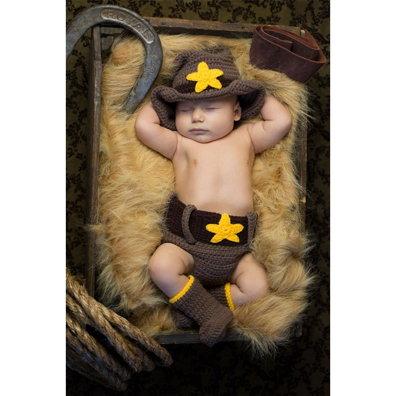 Cowboy Newborn Costume for the 2015 Costume season.