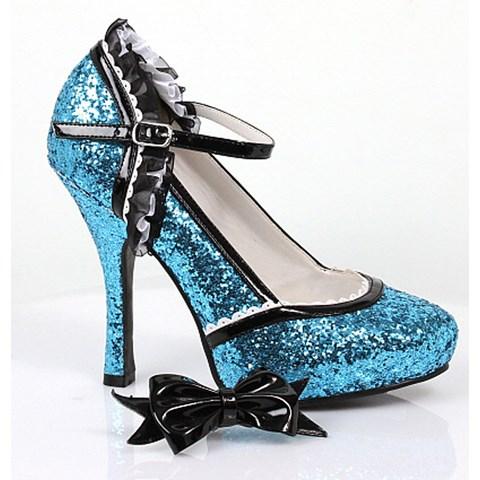 Glitter (Blue) High Heel Adult Shoes