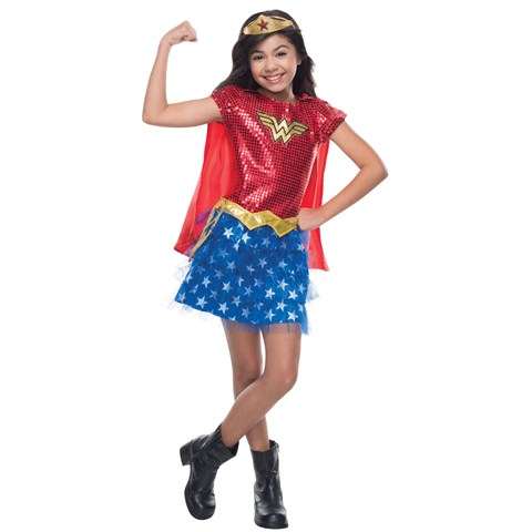 Kids Wonder Woman Sequin Costume