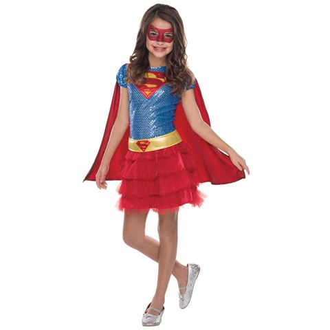 Supergirl Sequin Costume For Girls