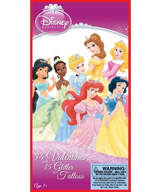 Disney Princess Valentines Day Cards and Tattoos
