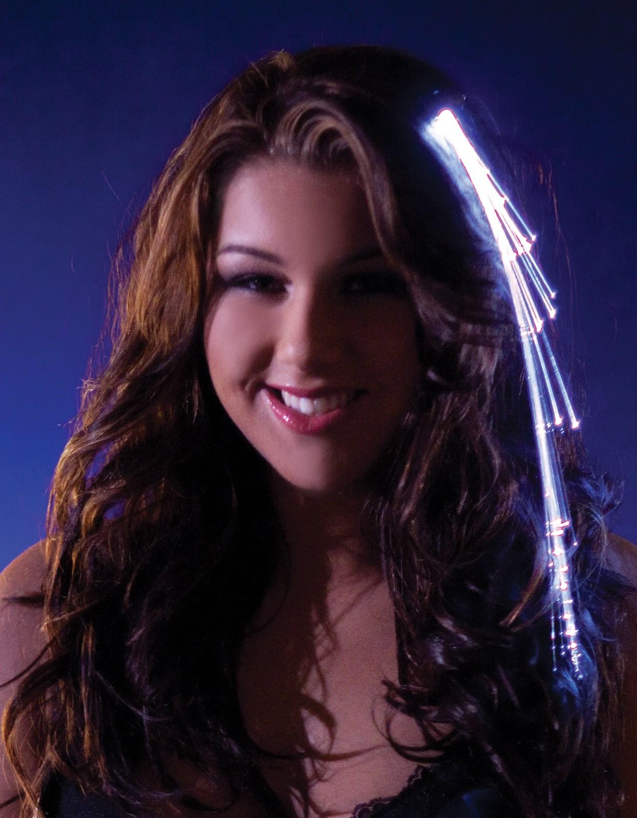 White Light Up Hairclip For Girls
