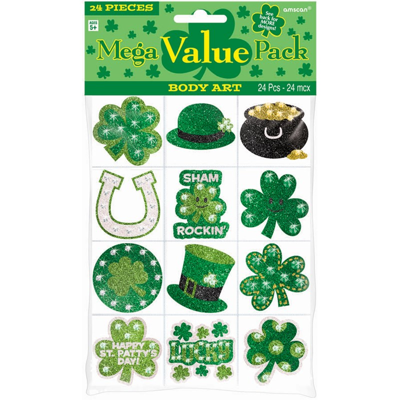 St. Patricks Day Body Jewels and Tattoos (24 count) for the 2015 Costume season.