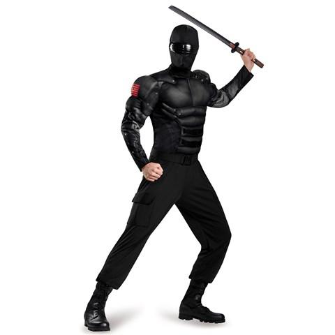 G.I. Joe: Adult Snake Eyes Muscle Costume