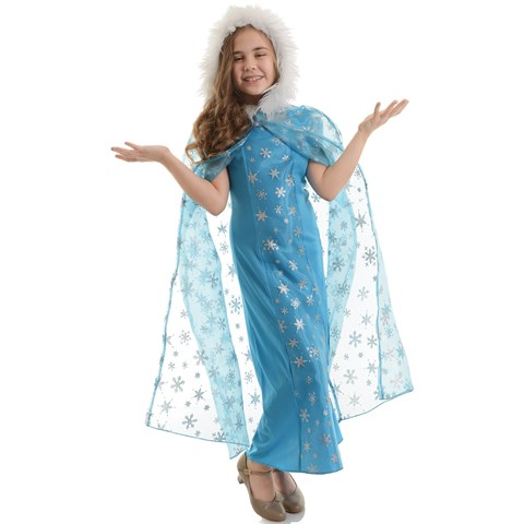 Snow Queen Cape For Girls