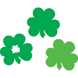 St. Patrick's Day Shamrock Cutouts (3 count)