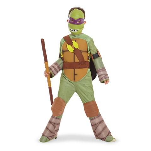 Teenage Mutant Ninja Turtle - Donatello Kids Costume with Vinyl Mask