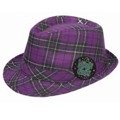 Mardi Gras - Plaid Fedora Hat