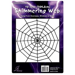 Black Shimmering Web