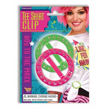 80s Pink And Green Tee Shirt Clips
