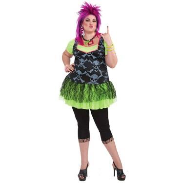 80s Punk Lady Plus Size Costume