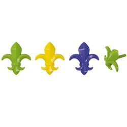 Mardi Gras - Fleur de Lis Cake Picks (12 count)
