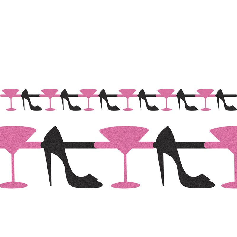 Bachelorette Party   Martini and Heels Jointed Glitter Garland for the 2015 Costume season.