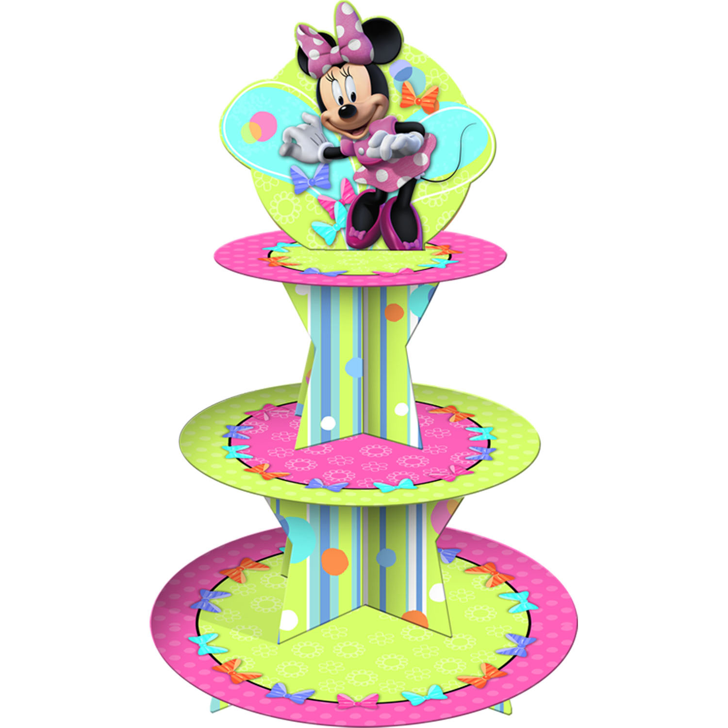 disney minnie mouse bow tique cupcake stand includes 1 cupcake stand ...