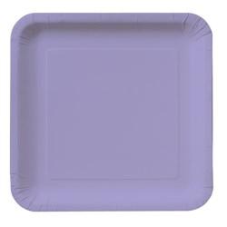 Luscious Lavender (Lavender) Square Dessert Plates (18 count)