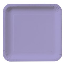 Luscious Lavender (Lavender) Square Dinner Plates (18 count)