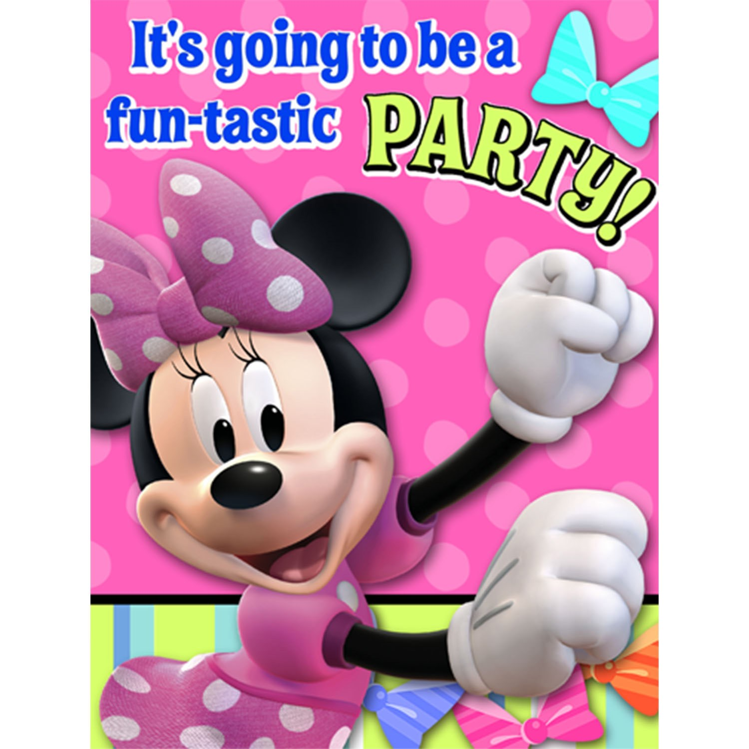 Disney Minnie Mouse Bow-tique Invitations 8 count
