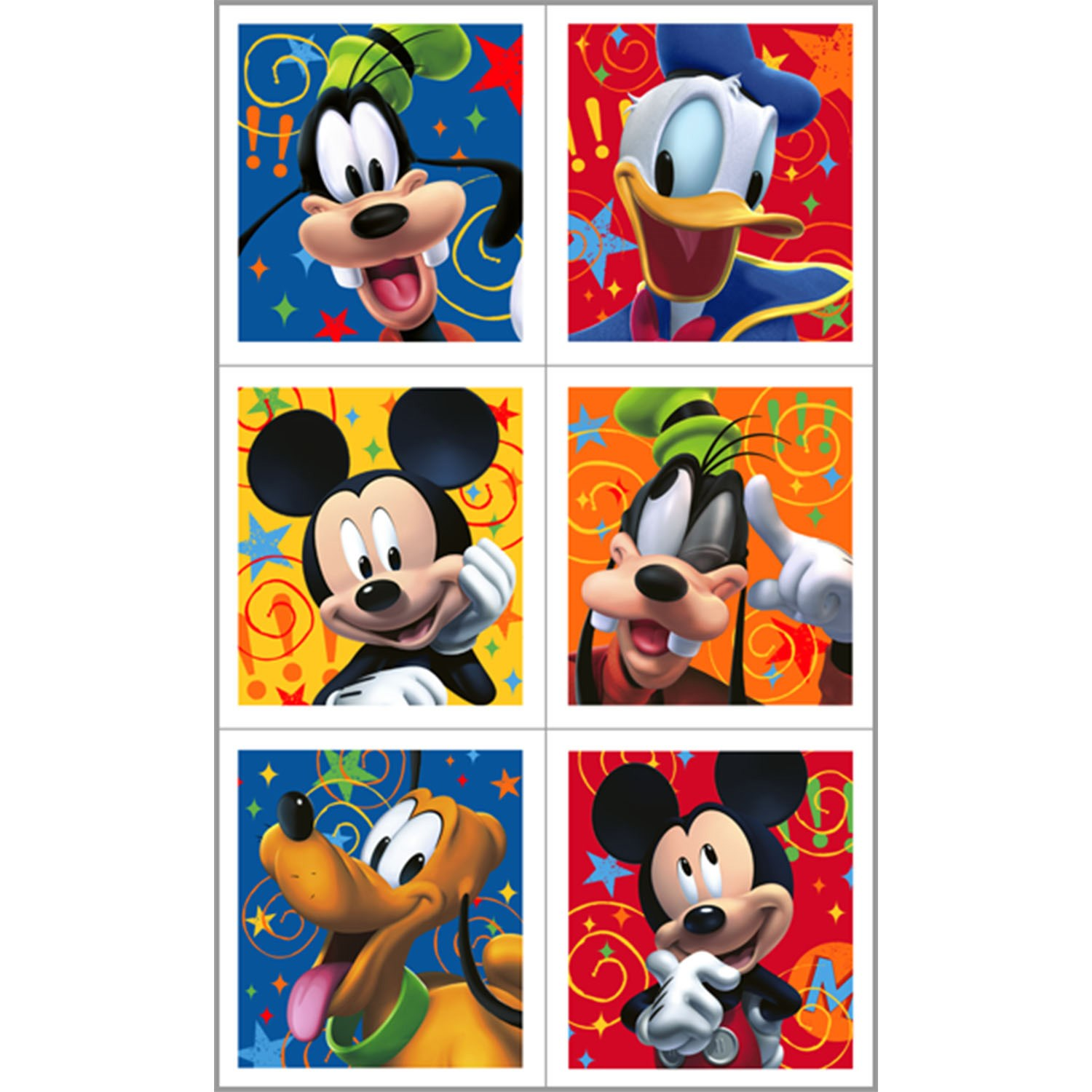 Disney Mickey Fun and Friends Sticker Sheets 4 count