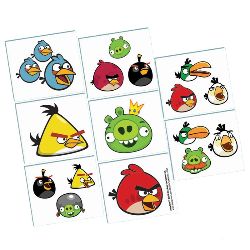 Angry Birds   Tattoos for the 2015 Costume season.