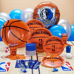 Dallas Mavericks NBA Basketball Deluxe Party Kit