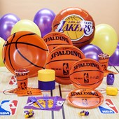 Los Angeles Lakers NBA Basketball Deluxe Party Kit
