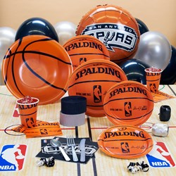 San Antonio Spurs NBA Basketball Deluxe Party Kit