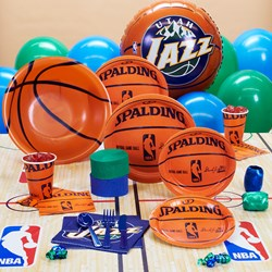 Utah Jazz NBA Basketball Deluxe Party Kit