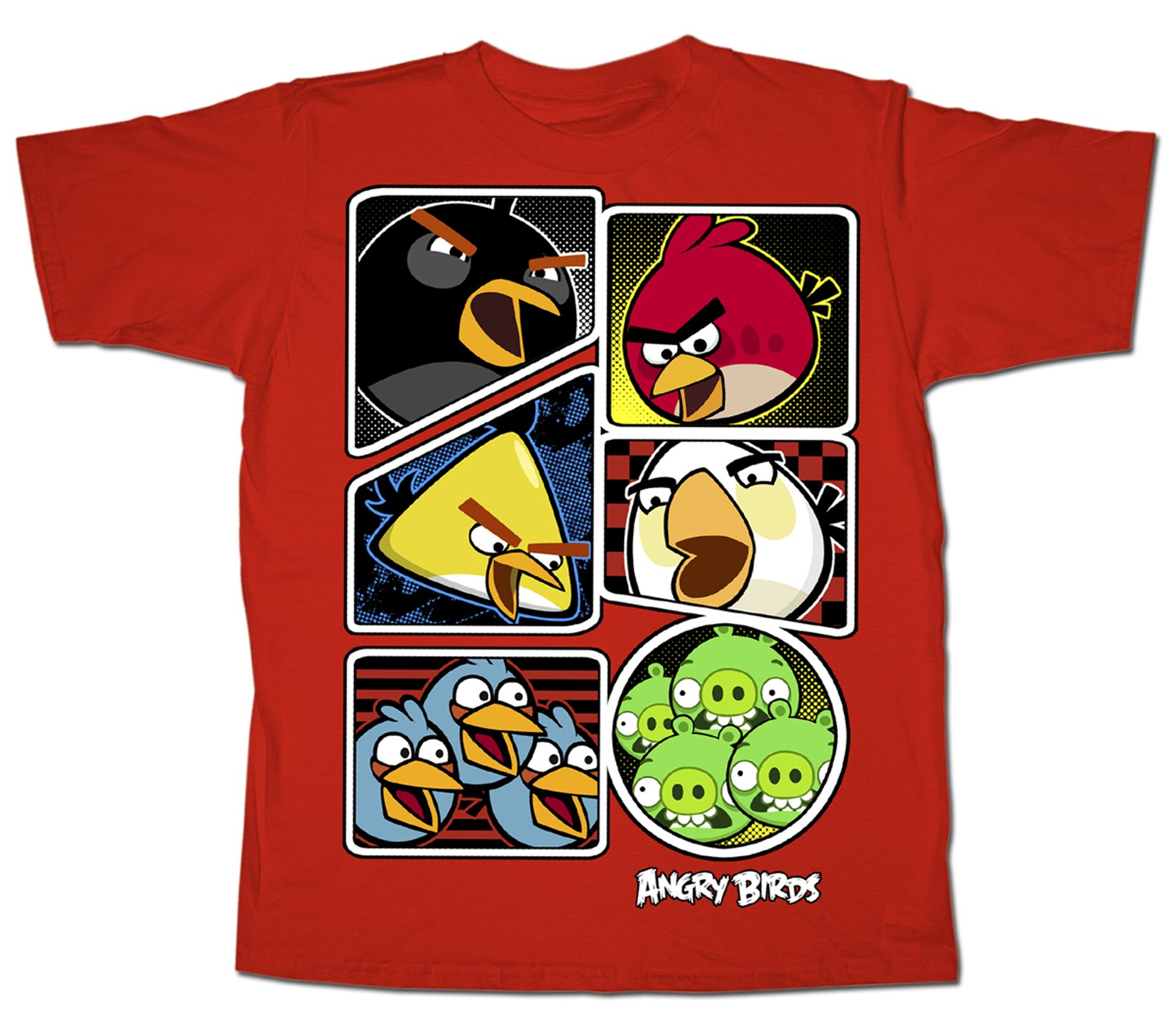 Get Them Red Angry Birds T-Shirt