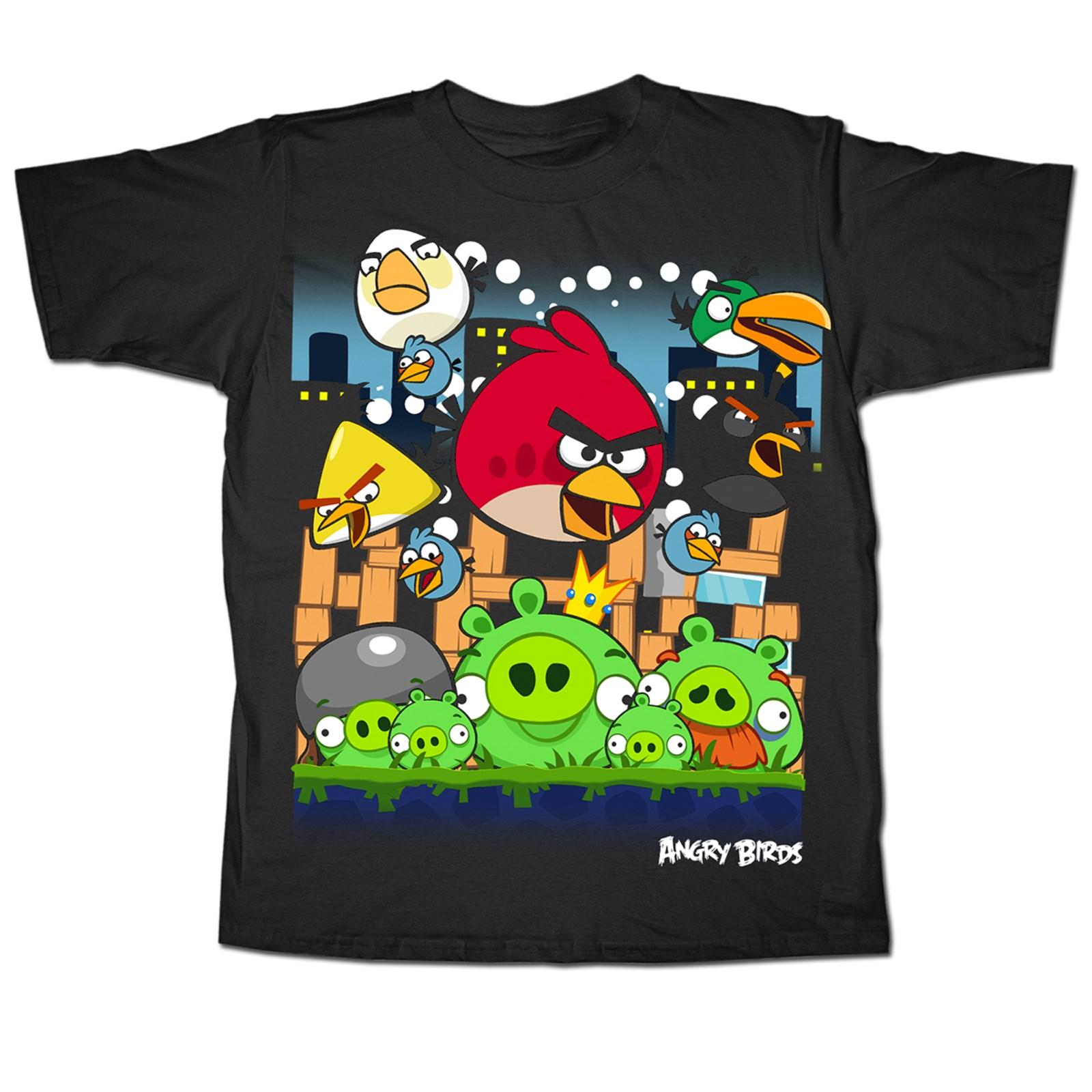 Black Angry Birds T-Shirt