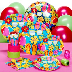 Summer Splash Luau Deluxe Party Kit