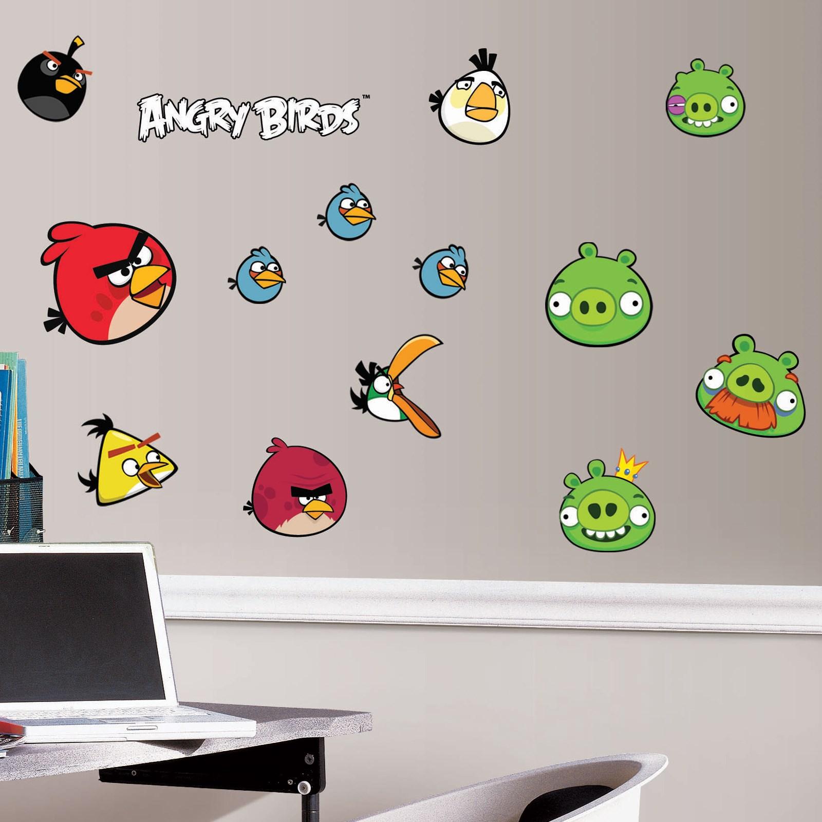 Image of Angry Birds Removable Wall Decorations