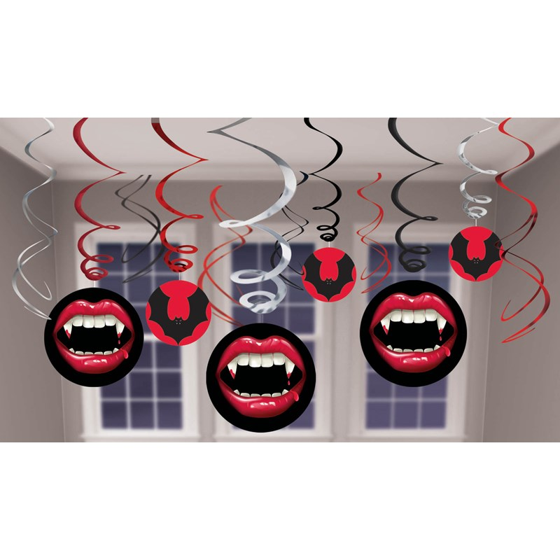 Halloween Vampire Hanging Swirl Decorations for the 2015 Costume season.