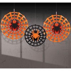 Halloween Spider Web Fan Decorations