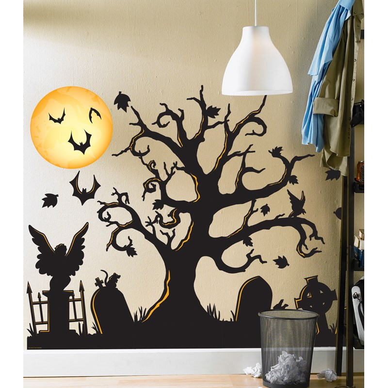 Halloween Spooky Cemetery Giant Wall Decals for the 2015 Costume season.